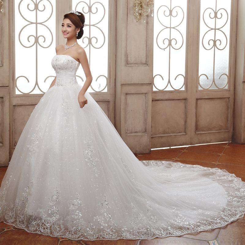 imagenes de vestidos de novia espectaculares con cola | boda ...