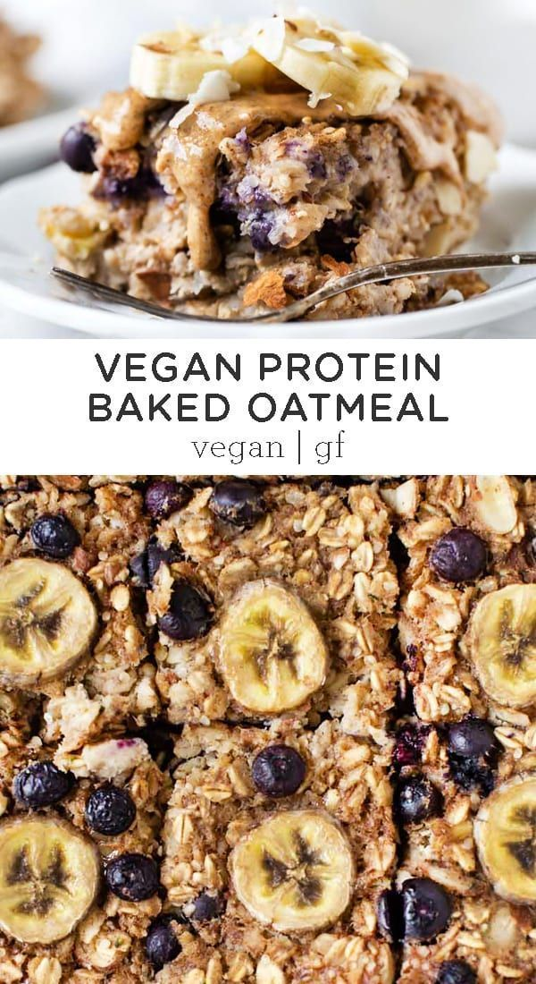 Photo of Protein Baked Oatmeal with Bananas and Blueberries – Simply Quinoa