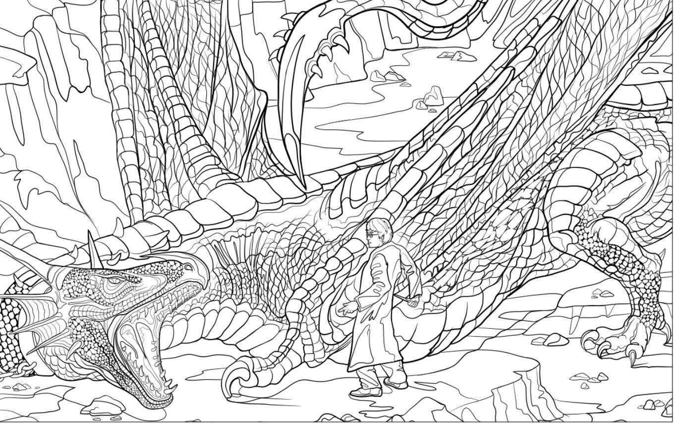 Amazon Prime Now Harry Potter Magical Creatures Coloring