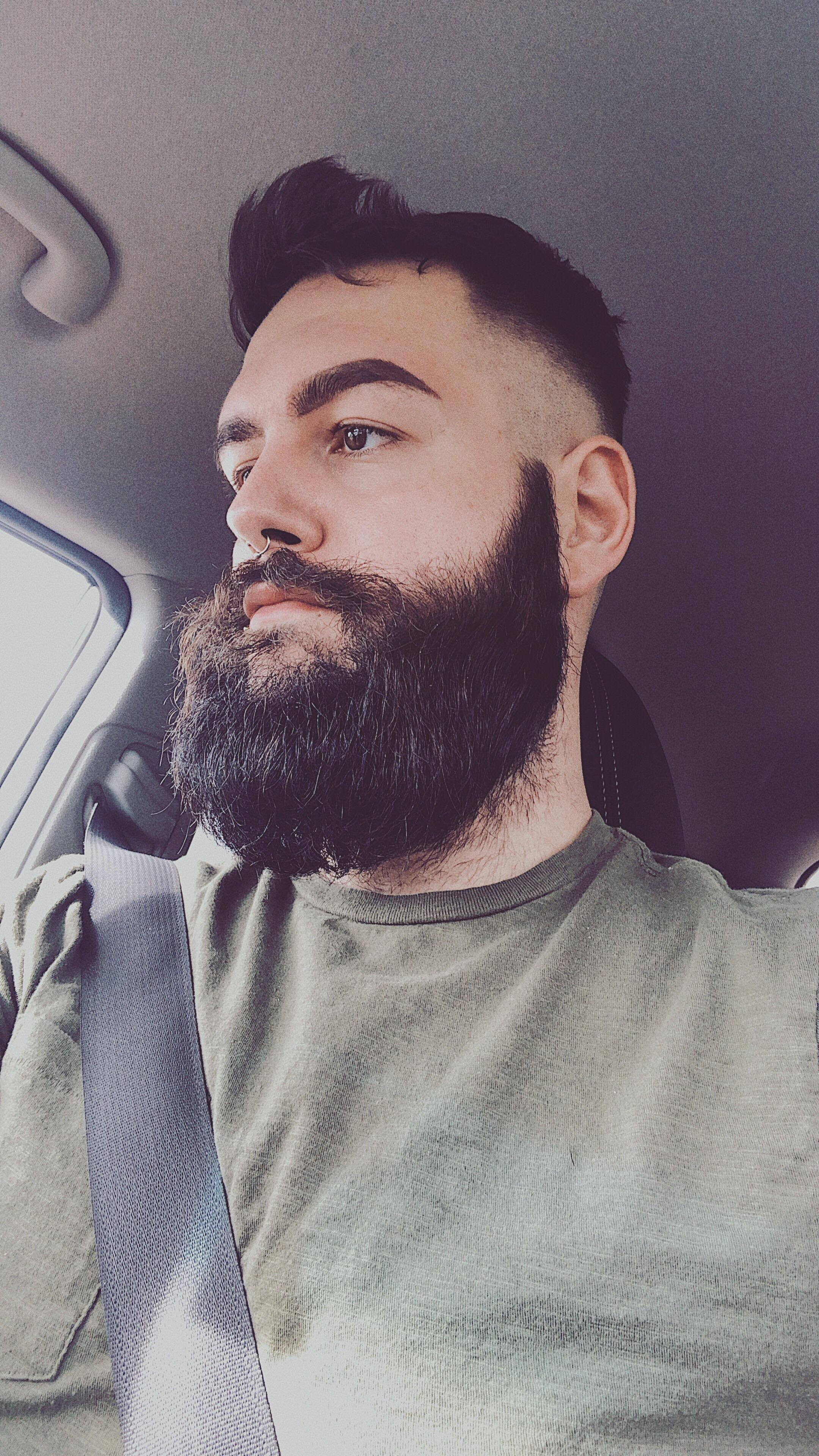 Fresh haircut men contrast from a fresh haircut makes the beard power up  full beard