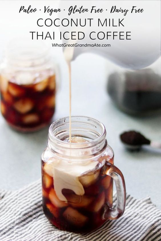 Photo of Coconut milk Thai iced coffee (paleo, vegan)