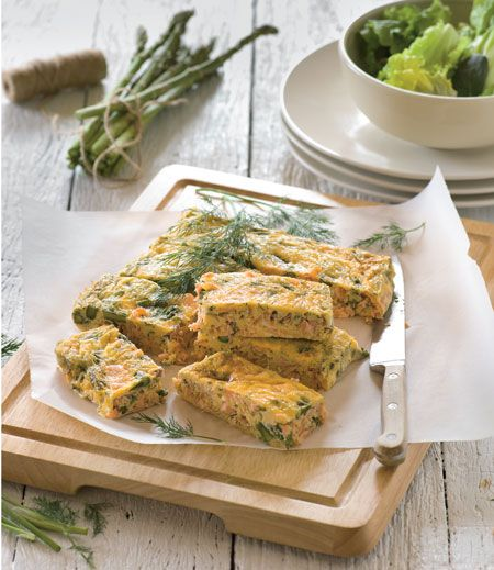 Smoked salmon and asparagus frittata twd recipe book food smoked salmon and asparagus frittata twd recipe book forumfinder Gallery