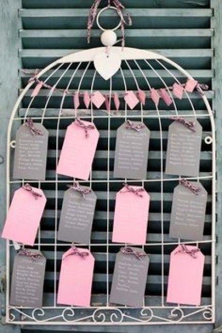 Plan de table cage oiseau deco fete pinterest photos plan de tables - Plan de table cage oiseau ...