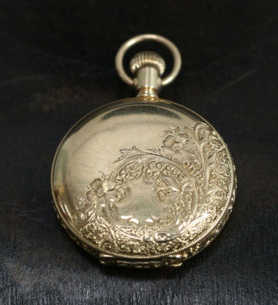 Antique 1898 waltham seaside 14k yellow gold hunting case pocket antique 1898 waltham seaside 14k yellow gold hunting case pocket watch p46 waltham mozeypictures Images