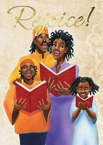 Black Art Christmas Cards African American