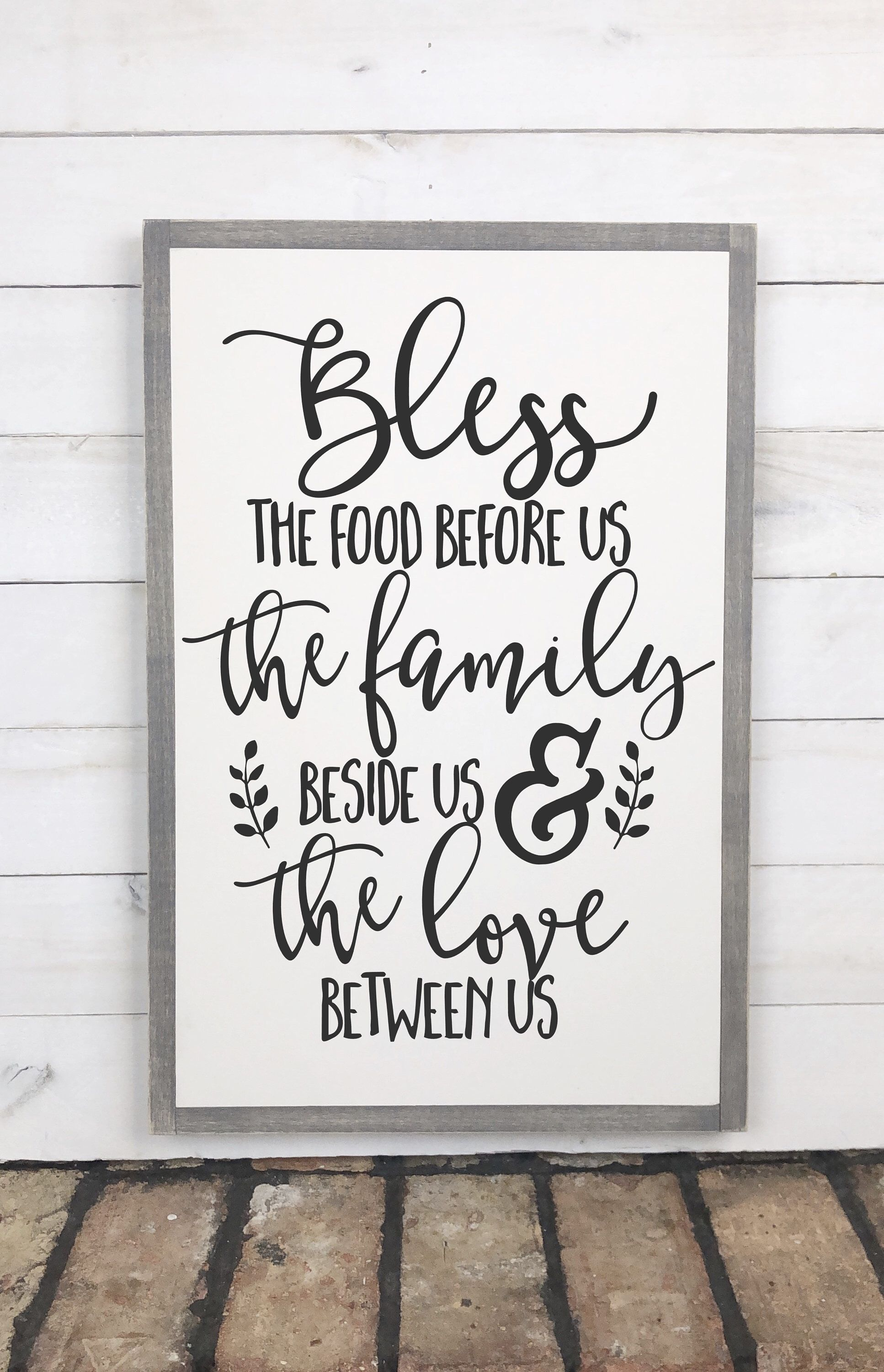Bless the food before us wood sign thanksgiving sign farmhouse