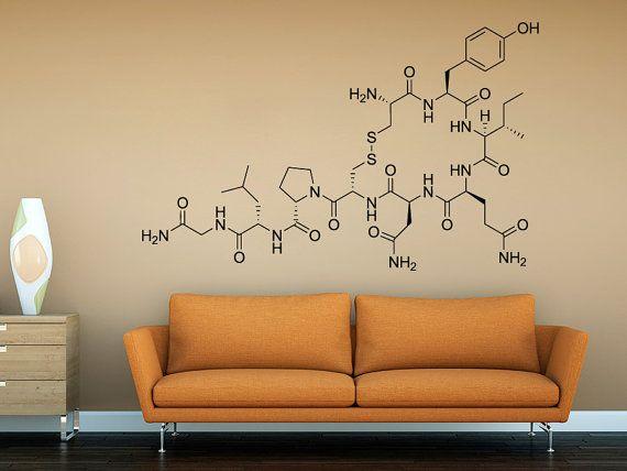 Tegel Decoratie Stickers : Love molecule oxytocin wall sticker decal for by decalsticker