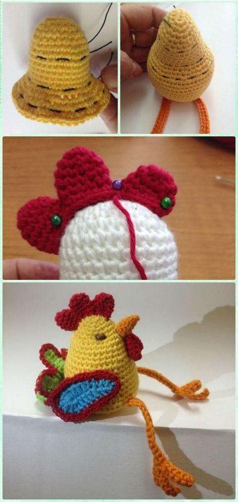 Crochet Amigurumi New Year Rooster Cock Free Pattern Crochet
