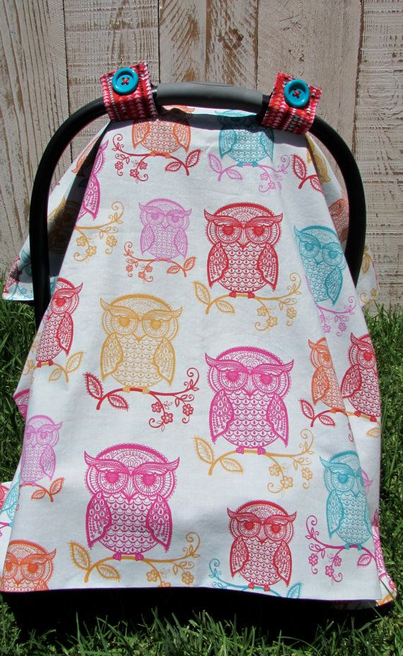 Owl Car Seat Canopy by SugarPeasCreations on Etsy & Owl Car Seat Canopy by SugarPeasCreations on Etsy | ?AJF ...