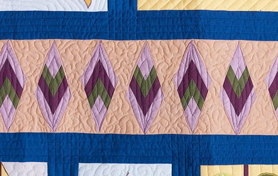 Paper Pieced Leaves Coats Quilt Along