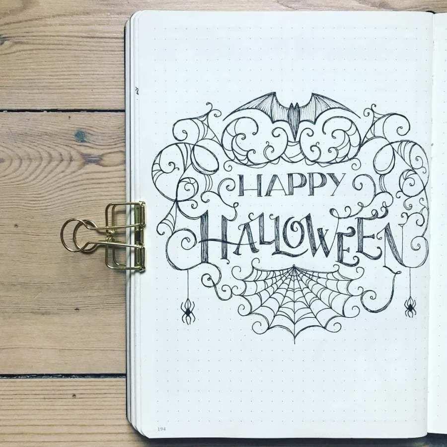 20+ Scary Halloween Bullet Journal Page Ideas | ElizabethJournals
