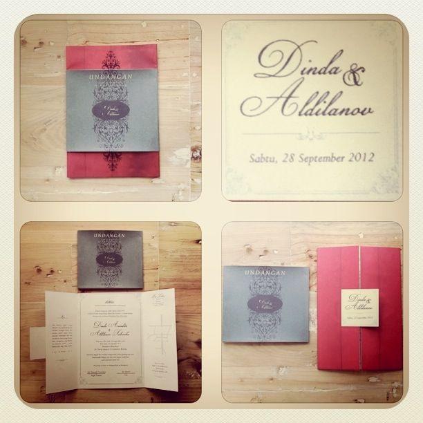Dinda and Aldilanov Wedding Invitation
