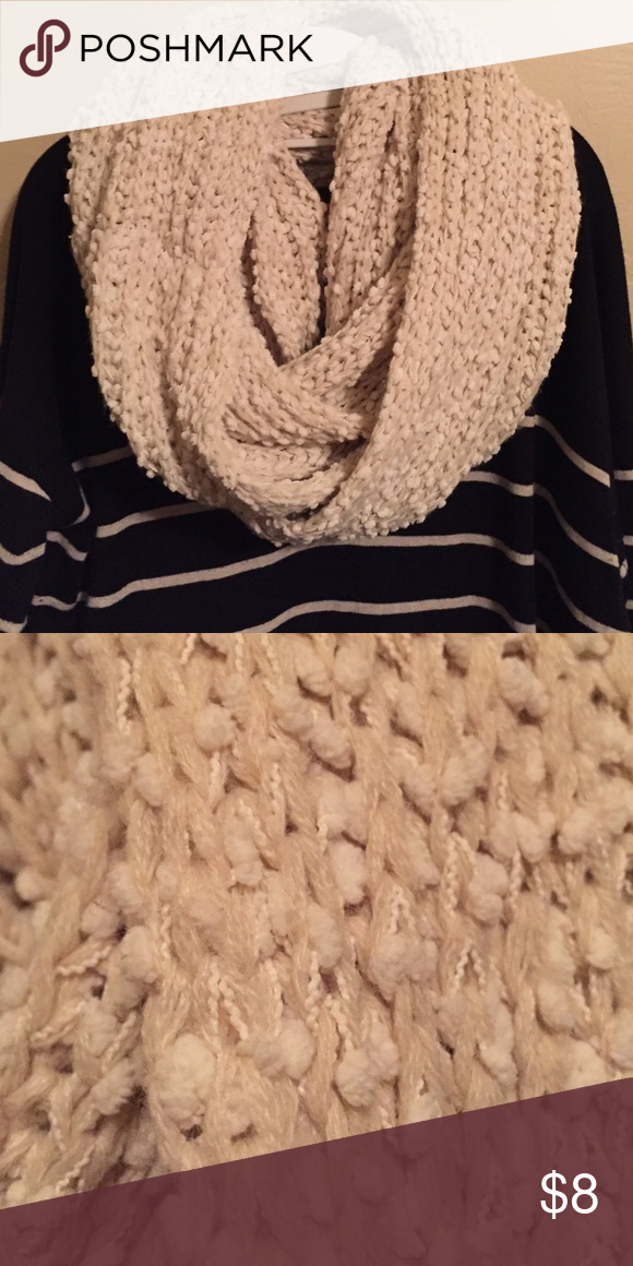 a539af1977e Wool infinity scarf Cream colored, thick, woven, infinity scarf ...