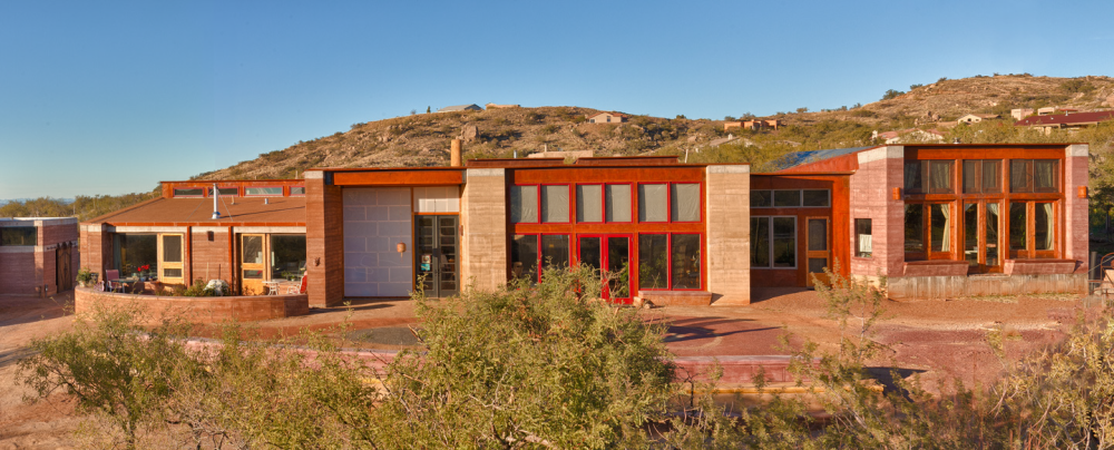 Quentin branch and julie szekely residence rammed earth for Rammed earth home designs