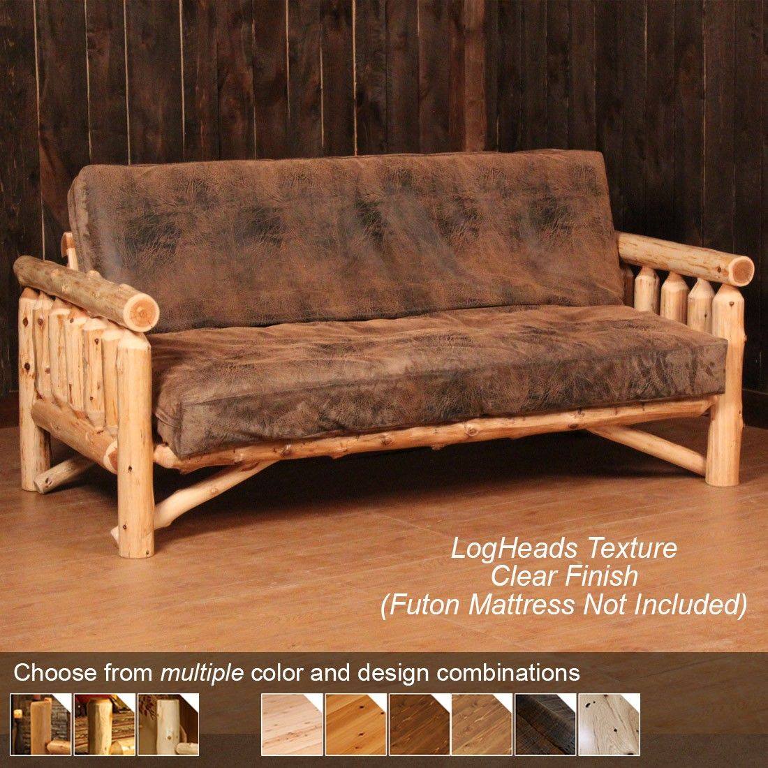 Log Futon Rustic Futon In 2019 Futon Sofa Futon Covers