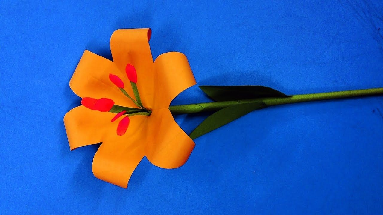 How To Make Lily Origami Flower Easy Paper Flowers For Beginners