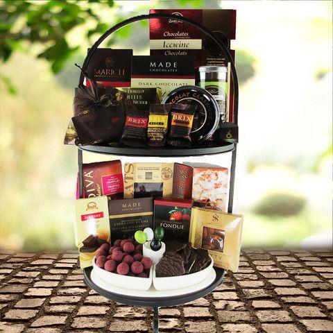 Brix Chocolate for Wine Gift Set from Hazleton's in Canada. Chocolate Gift Set. Kosher.