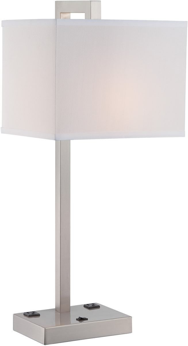 0 015907 Contento 1 Light Table Lamp Polished Light Table Modern Table Lamp Table Lamp