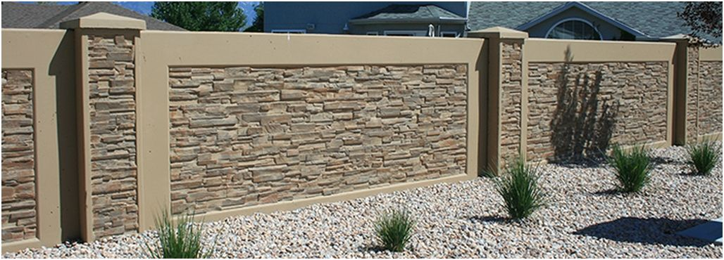wall fencing designs. Until recently  residential fence styles were limited to decorative but insubstantial wall options StoneTree offers a better concrete block option 65 Model Desain Pagar Rumah Minimalis Modern Klasik Terbaru