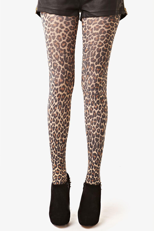 3be73870567d Leopard Leopard Print Tights | id wear | Leopard print leggings ...