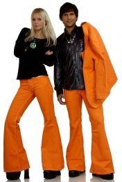 70s flare low-waist bellbottom pant orange