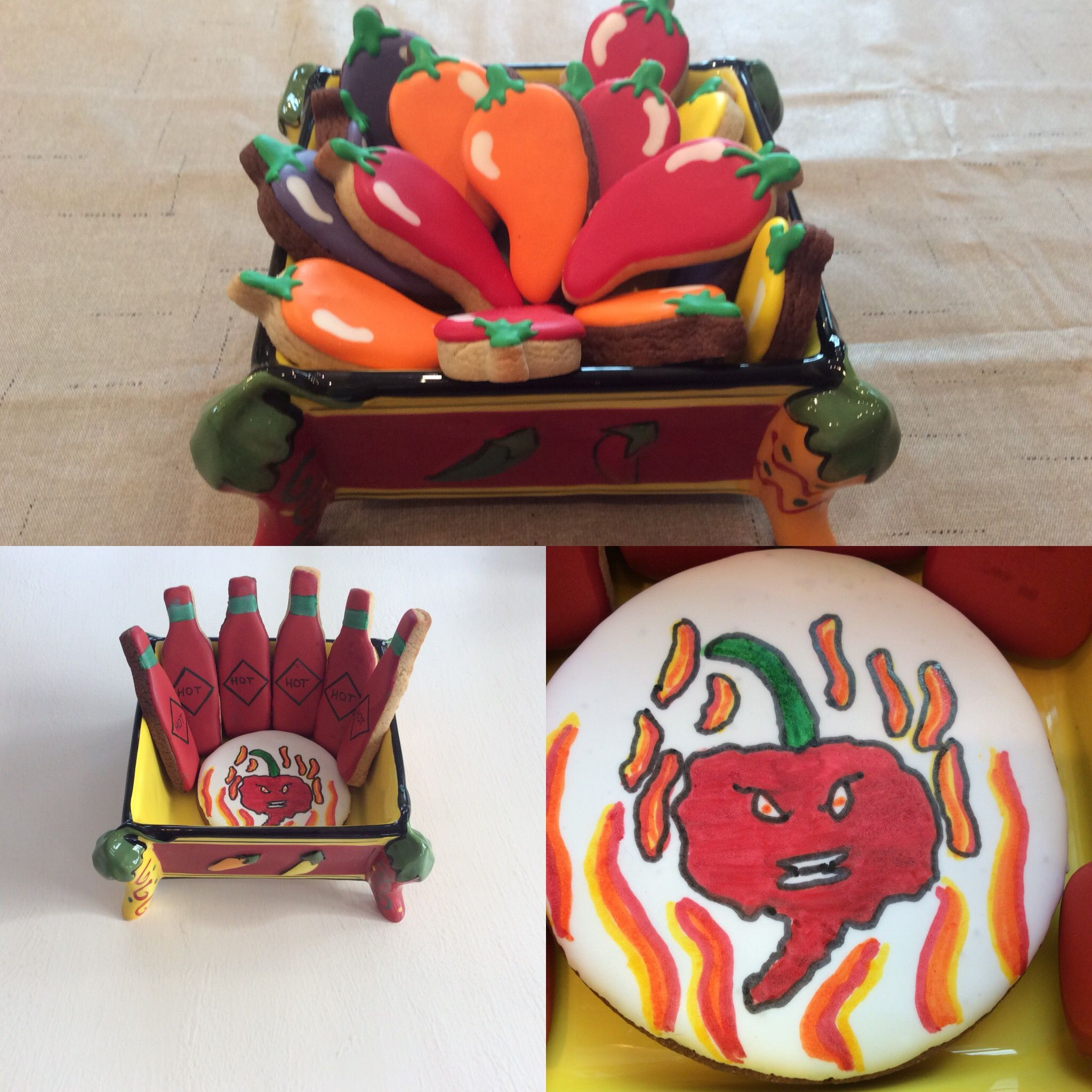 Chili pepper cookies royal icing   Celebration desserts ...