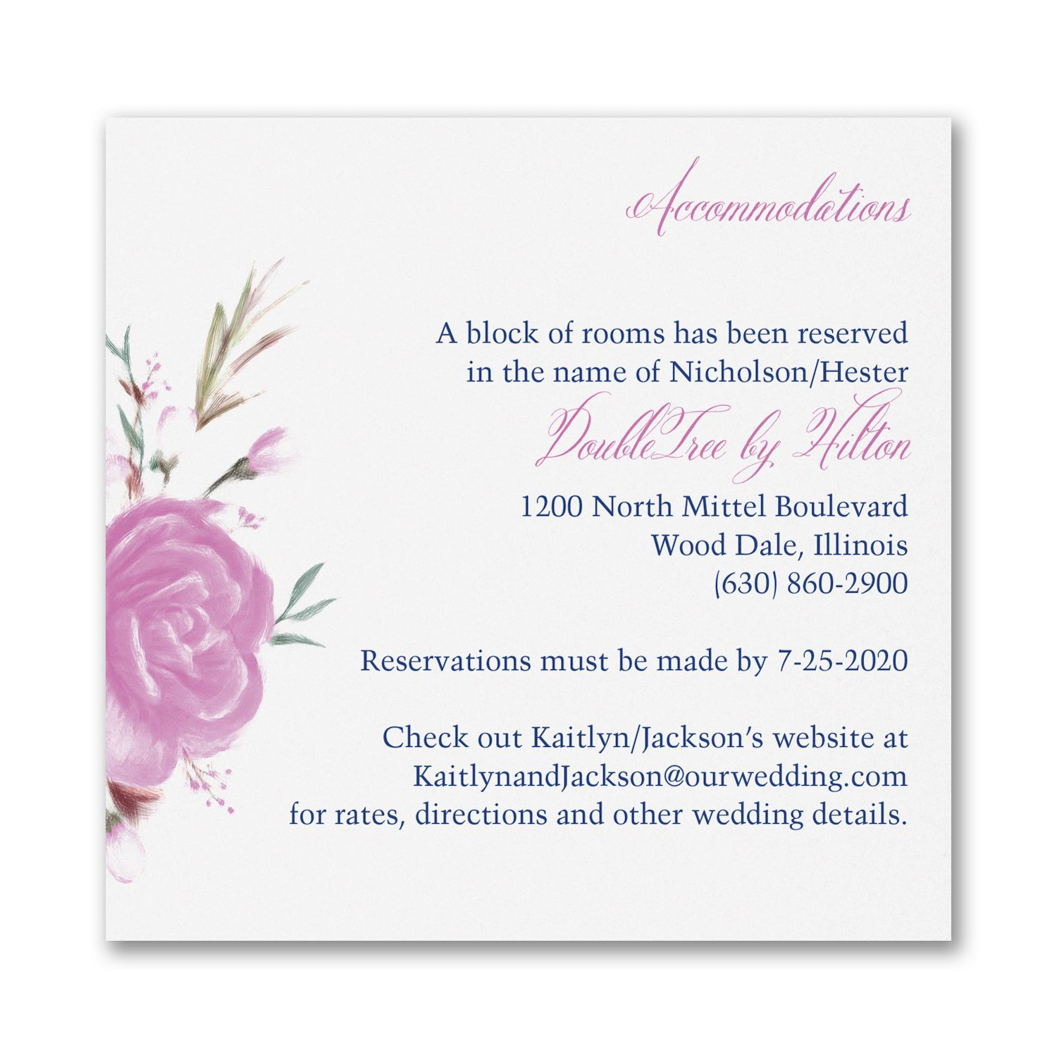 Enchanted Garden - Floral - Accommodation Card. Available at ...