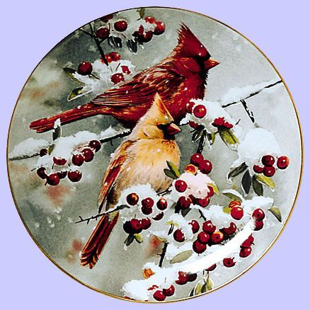 Winter Jewels - Cardinals - Artist: Susan Bourdet