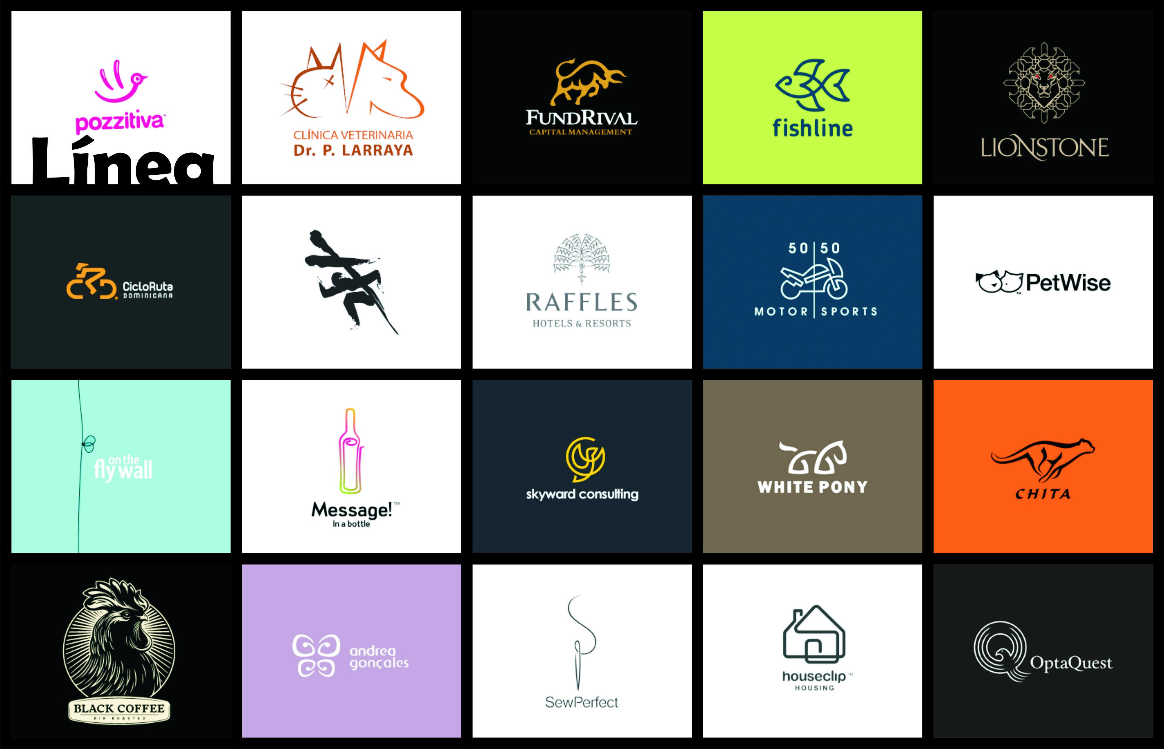 Ejemplos de logotipos. Síntesis resueltas con el uso de la
