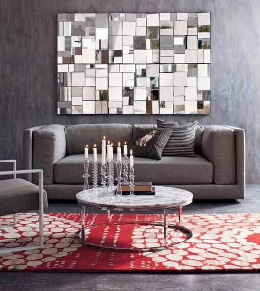 Mirror Tile Collage Mirror Wall Living Room Modern Mirror Living Room Living Room Mirrors