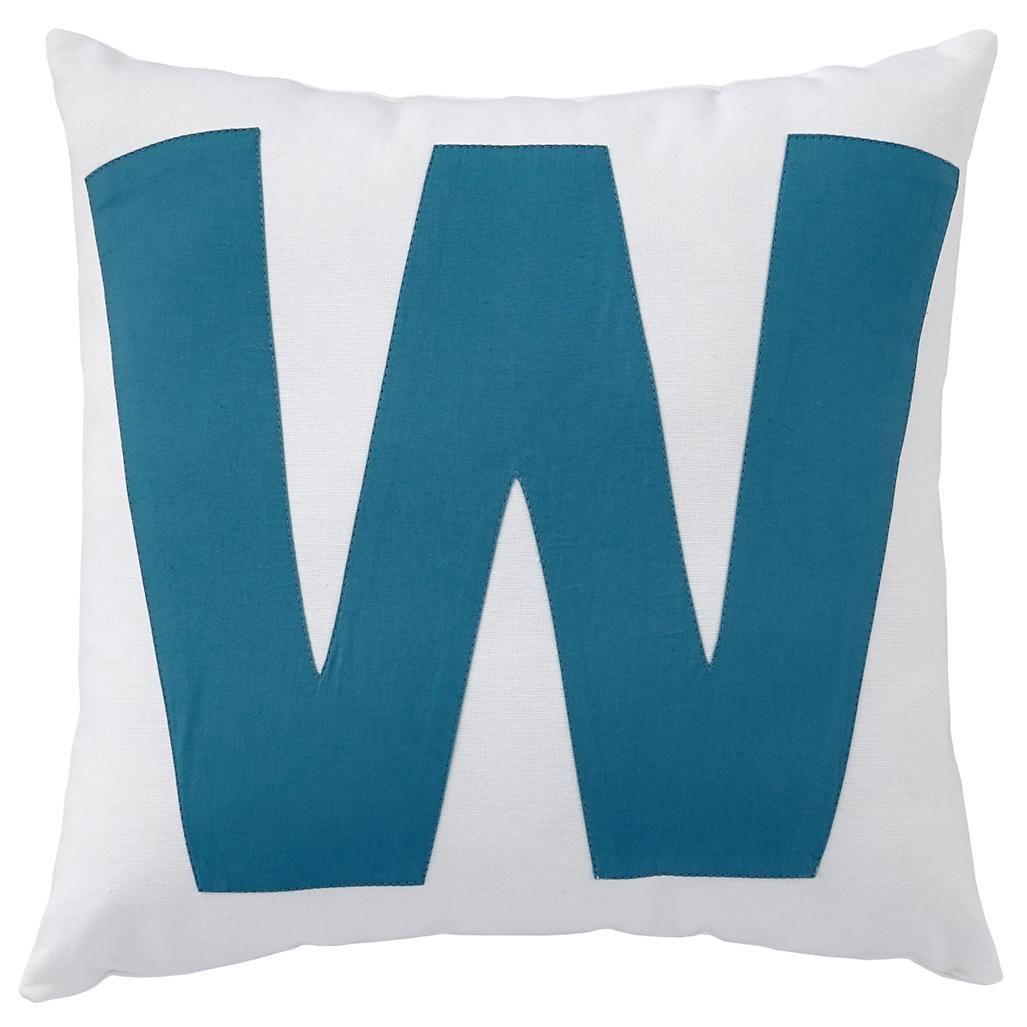 Kids Throw Pillows: Letter W Throw