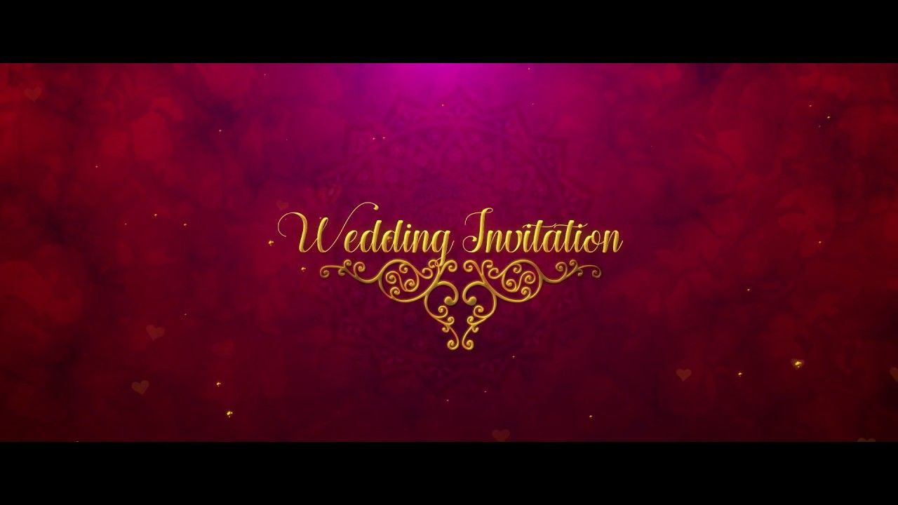 Easy Wedding Invitation Video Template