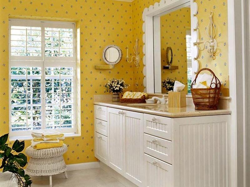 20 Cozy Yellow Bathroom Design Ideas