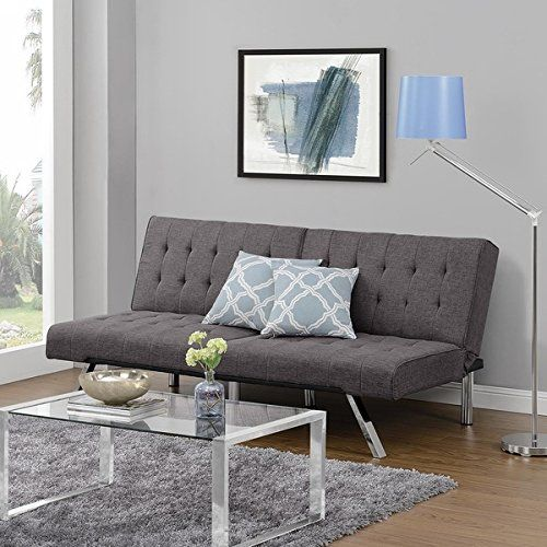 Include Extra Lounge Chair Dhp Emily Grey Linen Convertible Futon Ping Great Deals On Futons