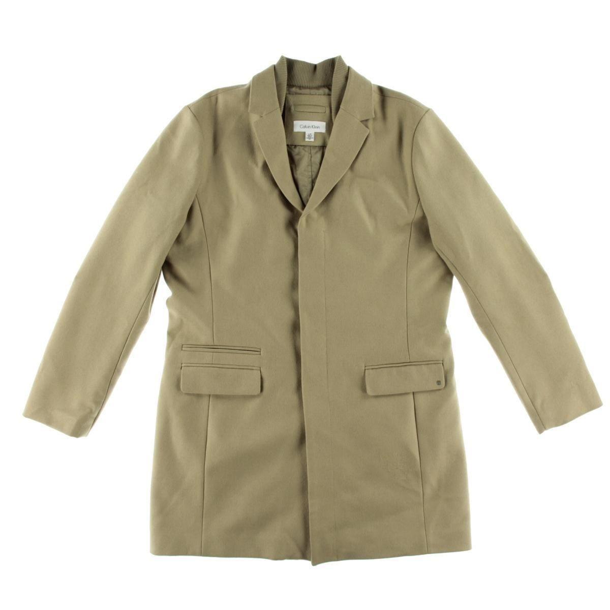 Calvin Klein Mens 248 Nwt Wool Blend Peacoat Coat Jacket L Large Tan Brown Jackets Coats Jackets Men S Coats Jackets [ 1200 x 1200 Pixel ]