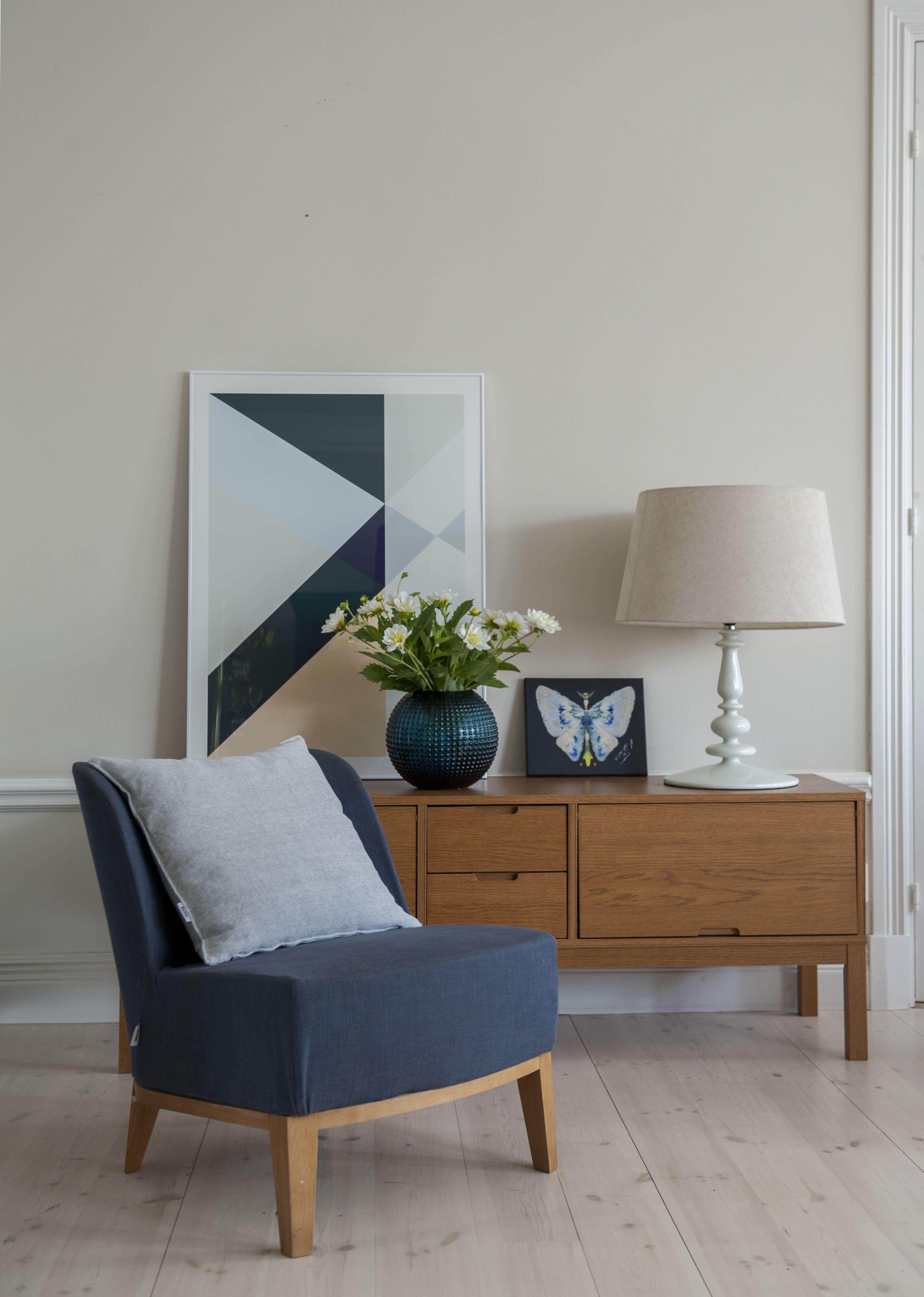 Stockholm Easy Chair Cover In Ink Blue Tegn R Melange