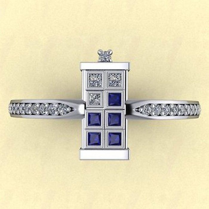 1.11 Ct Blue & White Princess Cut Engagement Wedding Ring 925 Sterling Silver #SolitairewithAccents