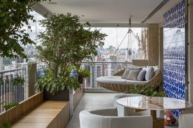 Mobili Terrazzo ~ Varanda para receber com verde e arte balconi terrazzo e cuscini