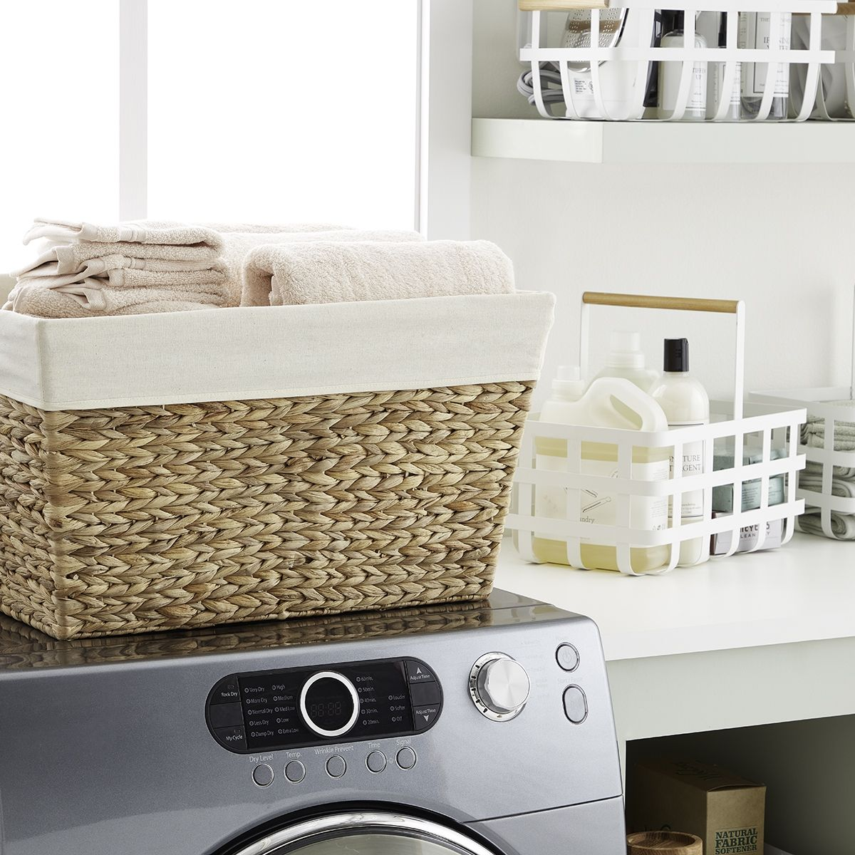 Laundry Room Storage Baskets Water Hyacinth Laundry Room