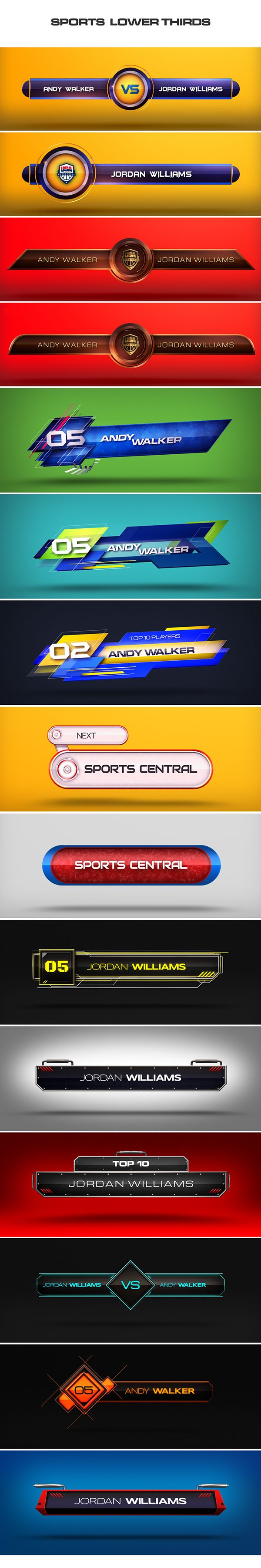 Digitaljuice - Sports Lowerthirds on Behance