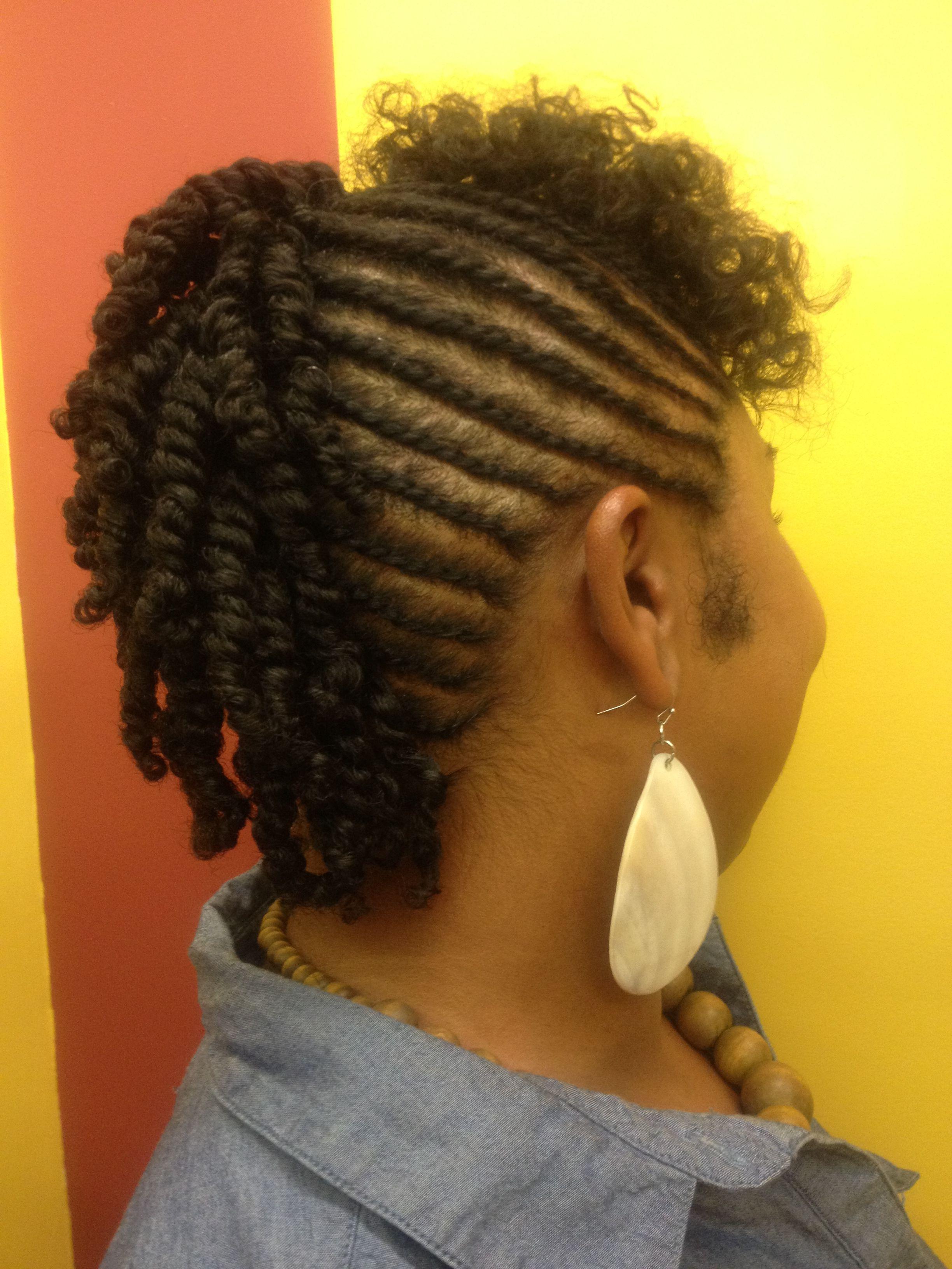 flat twist mohawk hairstyles - photo #4
