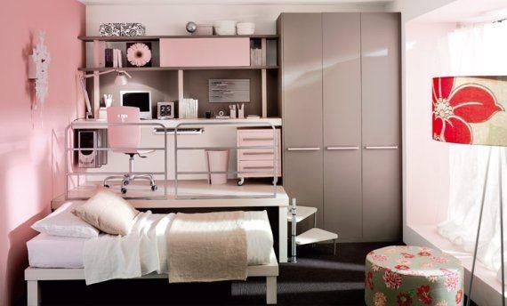 dormitorio-juvenil-rosa-caqui.jpg (570×344) | bebita | Pinterest