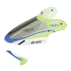 Blade Complete Green Canopy with Vertical Fin: mCP X by BLADE. $12.99. This is the replacement canopy for thje mCP X RC helicopter. Bright green in color, it also comes with the vertical fin. Always a good idea to have an extra canopy on hand when you need it.