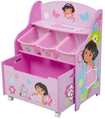 Travel Themed Bedroom For Seasoned Explorers: Dora The Explorer 3 Tier Storage Organizer By Delta