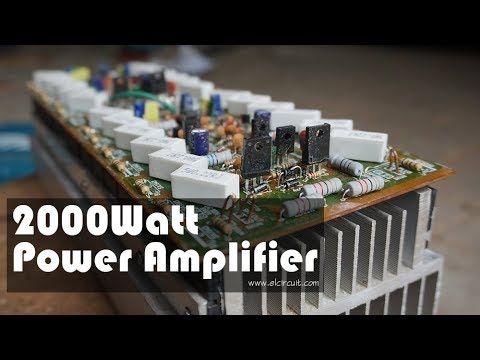 DIY 2000W High Power Amplifier 2SC5200 2SA1943 in 2020 ...