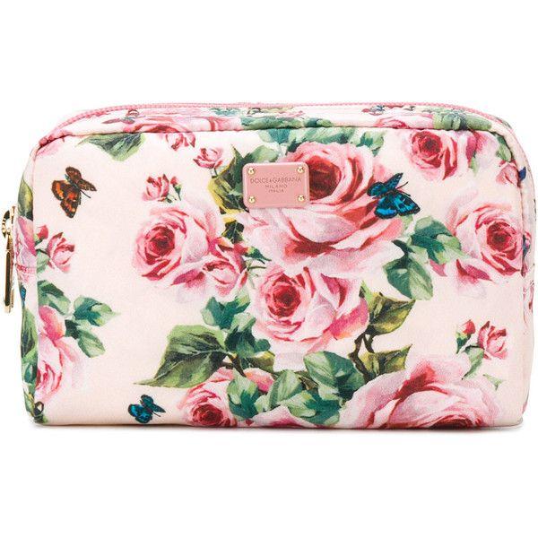 Dolce & Gabbana rose print make-up bag Great Deals aWuvfA