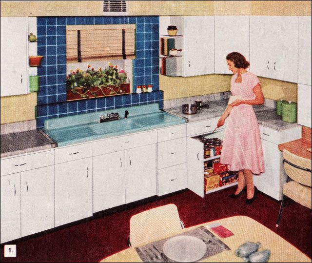 1950s kitchen american standard sink - Homes And Gardens Kitchens