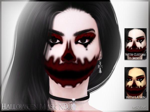 MSQSIMS' Halloween Mask NB01 Halloween masks, Halloween