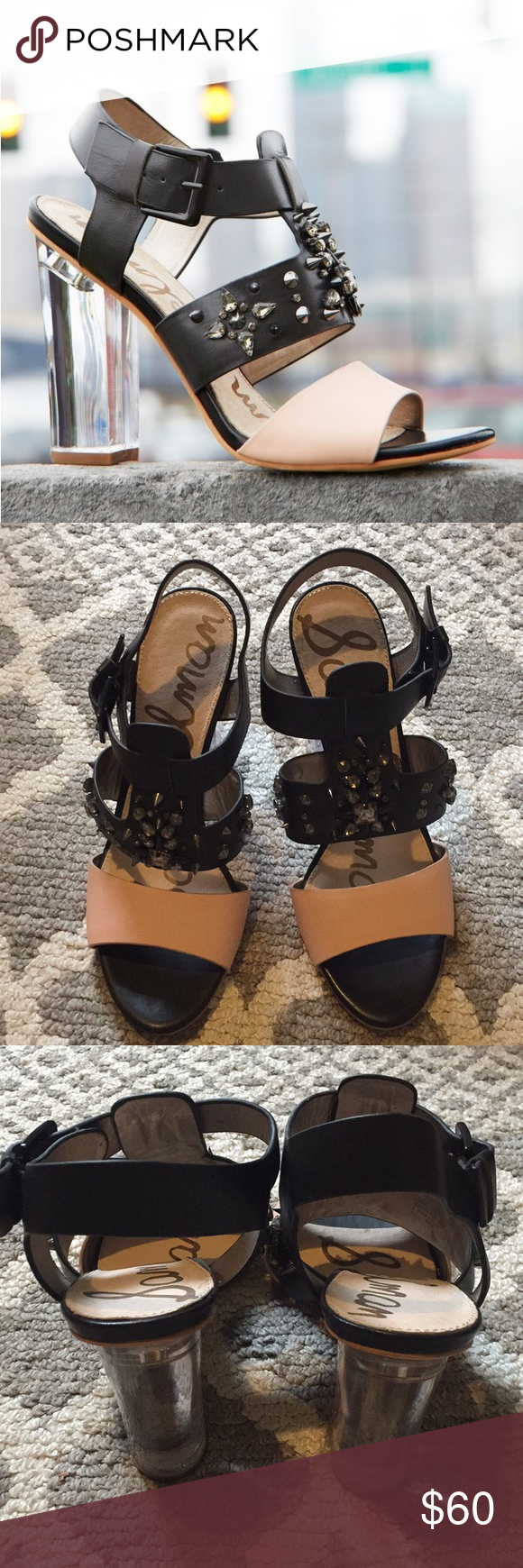 2d86297d7fca7c Sam Edelman Yara Sandal size 9 Really cool and funky Sam Edelman Yara  studded block heel
