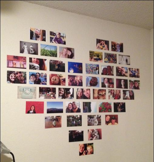 Diy Heart Photo Collage Battle Block Theater Bedroom Diy Diy Photo